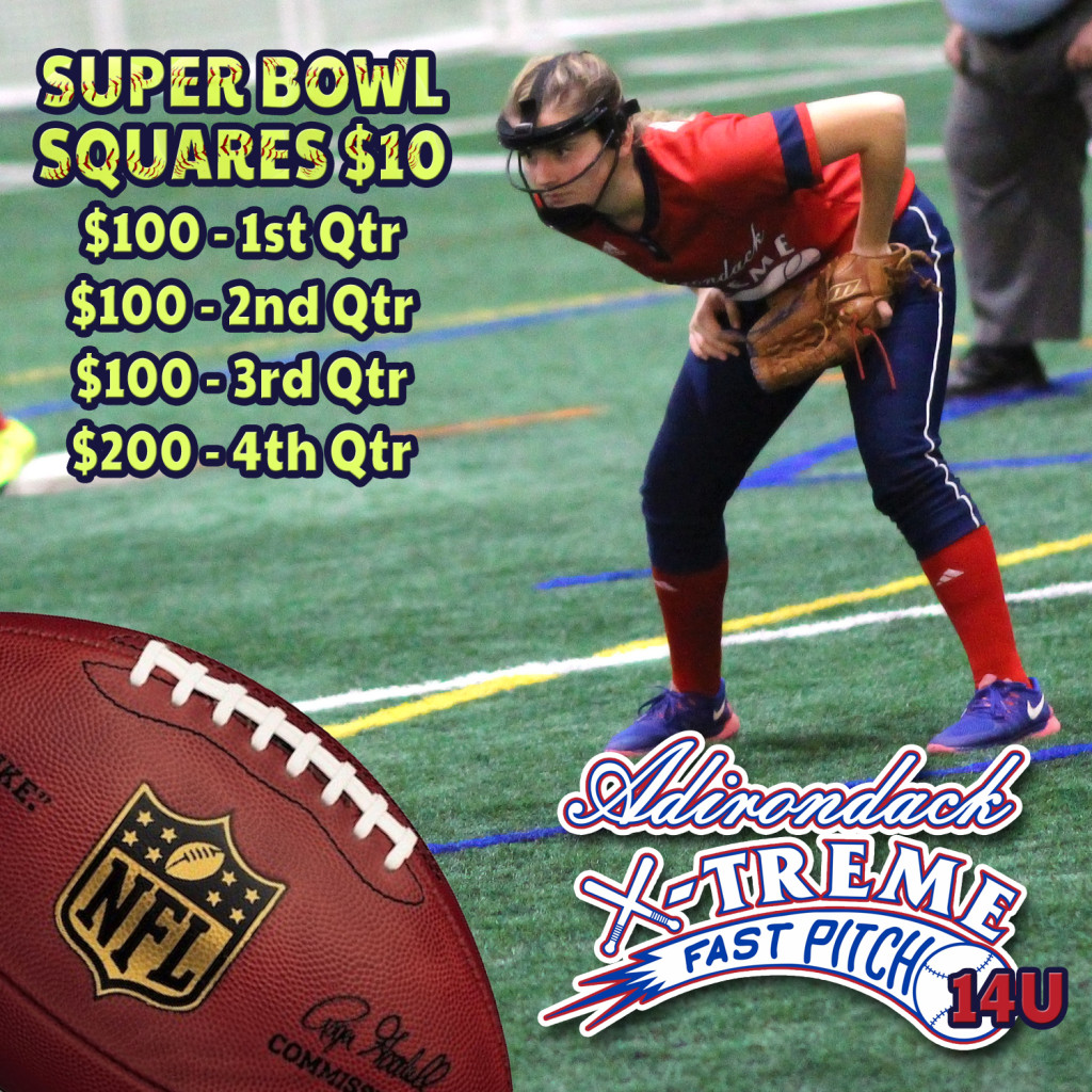 Super Bowl Squares to benefit 14U or 16U
